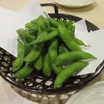 手打ち蕎麦 雷鳥 - 「とれたて枝豆」