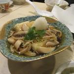 手打ち蕎麦 雷鳥 - 「きのこ餡かけ 揚げ出し豆腐」