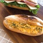 カフェ ラ レクレ - ブランチメニュー       ハムチーズサンド   スクランブルエッグサンド