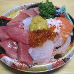 まっとう車遊館 ダイヤモンド食品 - 海鮮丼 950円也♪