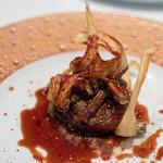 レストラン マノワ - 2018.9 鹿児島県・アナグマのロースト アナグマのジュと赤ワインエピスのソースで