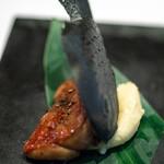 レストラン マノワ - 2018.9 黒いフォアグラたいやき
