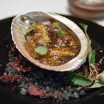レストラン マノワ - 2018.9 和歌山県・天然あわびの冷製とひぐまのコンソメジュレ