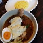 スープカリー専門店 元祖 札幌ドミニカ - チキン(黄スープ)小ライス 950円