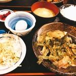 まつ永水産 - ゴマだれ刺身定食(^^)