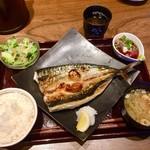 かこみ - かこみ名物 焼トロサバ定食980円