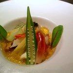 9347074 - オマール海老と夏野菜の冷たいブイヤベース キャビア添え