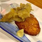鮨 蟹 大助別亭 - 舞茸の天婦羅と出来立ての自家製さつま揚げ