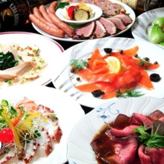 3,980円ローストビーフ付が大人気♪ご宴会に最適なコース!