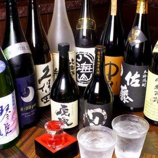 鮮魚にはやっぱり…日本酒・焼酎!!