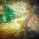 龍記 - 豚バラ角煮拉麺のアップ