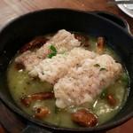アルルの食堂 urura - 鱧と大粒なめこのスープ仕立てトリュフの香り