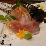 かどや - 地魚刺身三種盛り 1,080円