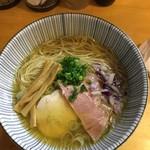 麺匠独眼流 - 「煮干らぁ麺(塩)」2018年9月27日