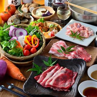 こだわりの野菜とお肉が存分に味わえるコースを多数ご用意
