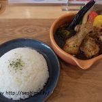 Cray pod soup curry Ohmiya Seiuemon - 京都赤鶏のスープカレー