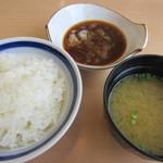 天ぷら はまや - 御飯・味噌汁・天つゆ♪