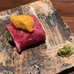 rokkasha - 牛肉と生雲丹