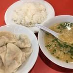 元祖ぎょうざ苑 - 水餃子、スープ、ご飯