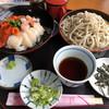 咲来 - 料理写真:三色海鮮丼&冷たい咲来蕎麦セット 1.480円