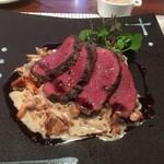 ビストロ ダイア - 蝦夷鹿のシンタマ、ジロール茸のソース