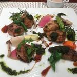 ビストロ ダイア - 鱈の白子とカキのフリット、ブルゴーニュ風ソース
