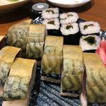 93503601 - 鯖の棒寿司と梅しそ巻き