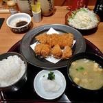 寿庵 - 黒豚ロース&ヒレカツセット(ご飯大盛り)