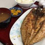 ひもの食堂 - さば干物定食(850円)(2018.09.現在)