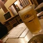 社交酒場 イム - 飲み放題のビールとお通し¥300(外税)の味付けうずら
