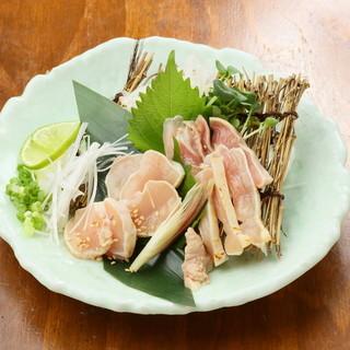 《朝挽き!新鮮!》三河鶏・錦爽鶏の鶏刺し
