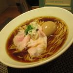 生粋 花のれん - 醤油(並盛)味玉ラーメン