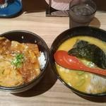 93514816 - 十勝ホエー豚丼セット(ハーフセット1100円)