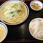 93518176 - ジャガイモ細切り炒め定食