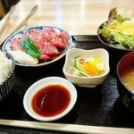 93519527 - 国産牛上カルビ定食     ¥1790