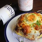 洋食イノツチ - 豚肩ロースとゆで卵のグラタン