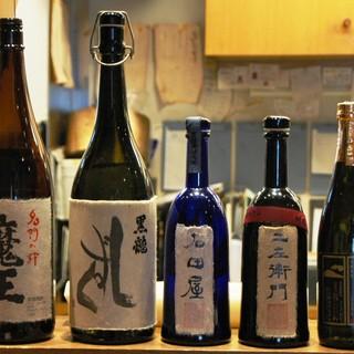 """魚料理と相性抜群!オーナー自ら厳選した福井の""""地酒""""で乾杯*"""