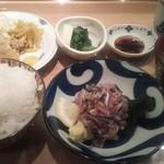 93524438 - 刺身定食+ハーフフライ 1150円