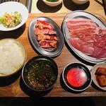熟成焼肉 肉源 - 焼肉ランチ(1,000円)