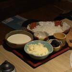 もつ唐と水炊きもつ鍋 由乃 - 〆のトリュフチーズリゾット