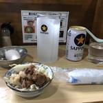 ラーメン富士丸 - 「ビール」450円とおつまみ