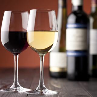 ワインもオンスでサイズが選べる!