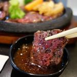 肉が一番 - 和風おろし醤油ダレにじゃぶんと浸けて頂きます。