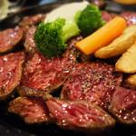 肉が一番 - 牛・豚・鶏各種のボリューミーなお肉ランチを頂けるお店です。