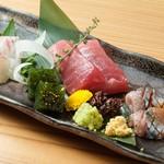 日本酒の魚枡 - 個別盛りのお刺身