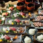 日本酒の魚枡 - コース料理