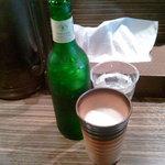 麺屋 利休 - ハートランドビール(小瓶)350円。