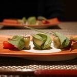 kiwa - 料理写真:炙り秋刀魚の焼きなす包み