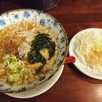 くれ星製麺屋 - くれ星麺 (煮干醤油)¥640+感謝の気持ちの葉野菜サラダ