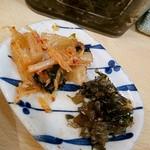 ひよこ - カクテキと高菜を
